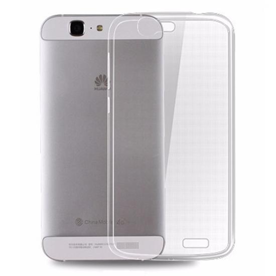 TPU Силиконовый чехол для Huawei Ascend G7 0.3мм Прозрачный глянцевый