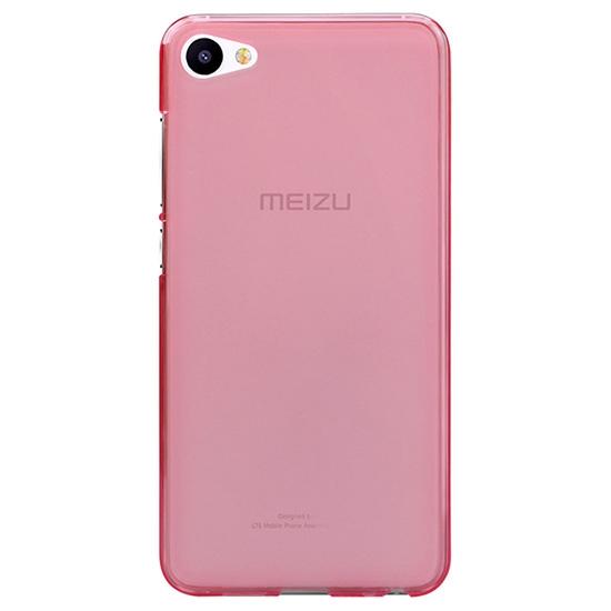 Чехольчикофф Силиконовый чехол для Meizu U20 Люкс Розовый