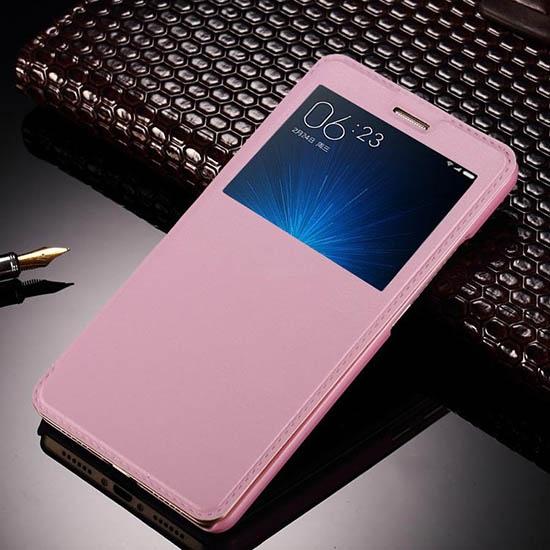 Чехольчикофф для Xiaomi Mi5S Plus с окном Розовый