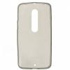 Силиконовый чехол для Motorola Moto X Style TPU 0.3мм Серый глянцевый