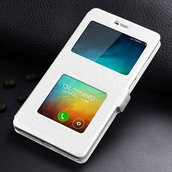 Чехольчикофф для Xiaomi Redmi 4 и Redmi 4 Pro Премиум с окном Белый
