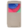 Чехол книжка для Lenovo Vibe X3 Lite Nillkin Sparkle Leather Case Золотой