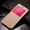 Чехол книжка для Meizu M5 Note Чехольчикофф с окном Золотой