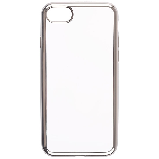 Skinbox Силиконовый чехол для Apple iPhone 7 Silicone Chrome Border 4People Серебряный