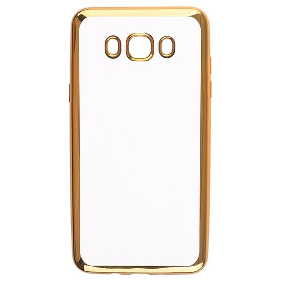 Skinbox Силиконовый чехол для Samsung Galaxy J7 (2016) SM-J710FN Silicone Chrome Border 4People Золотой