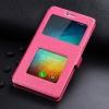 Чехол книжка для Xiaomi Redmi 4 и Redmi 4 Pro Чехольчикофф Премиум с окном Розовый