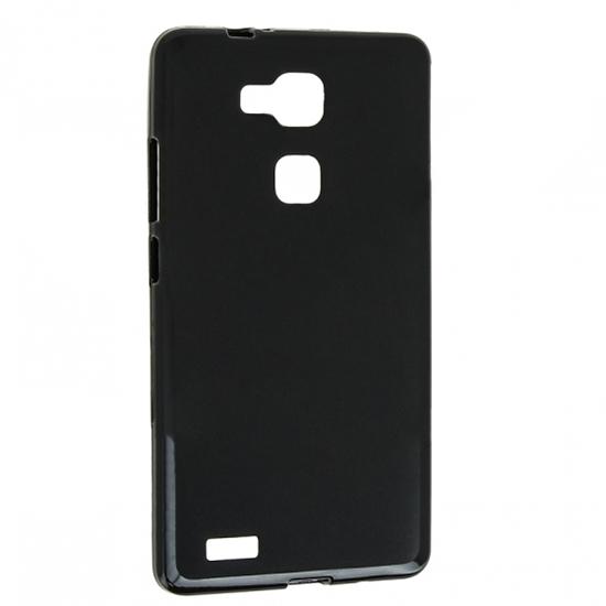 TPU Силиконовый чехол для Huawei Ascend Mate 7 X 0.8мм Черный матовый