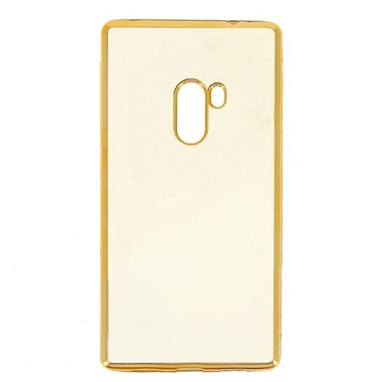 Hallsen Силиконовый чехол для Xiaomi Mi Mix Прозрачный с золотыми краями