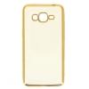 Силиконовый чехол для Samsung Galaxy J2 Prime SM-G532F Hallsen Прозрачный с золотыми краями