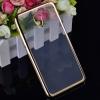 Силиконовый чехол для Meizu M5 Note Skinbox Silicone Chrome Border 4People Золотой