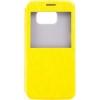 Чехол книжка для Samsung Galaxy S6 SM-G920F Skinbox Lux AW Желтый