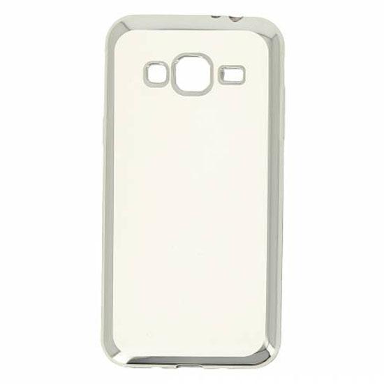 Hallsen Силиконовый чехол для Samsung Galaxy J3 (2016) Прозрачный с серебристыми краями