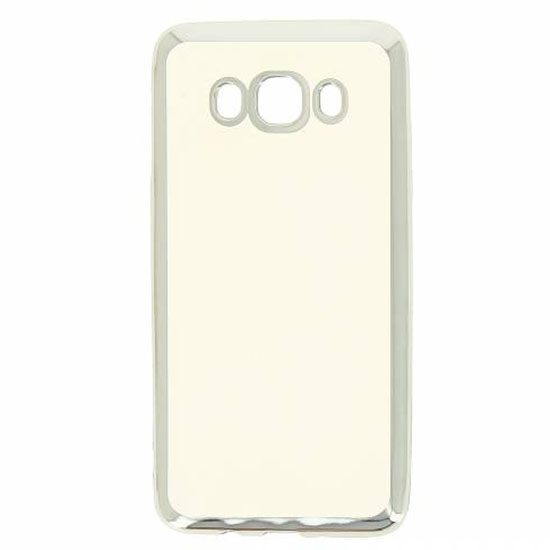 Hallsen Силиконовый чехол для Samsung Galaxy J5 (2016) Прозрачный с серебристыми краями