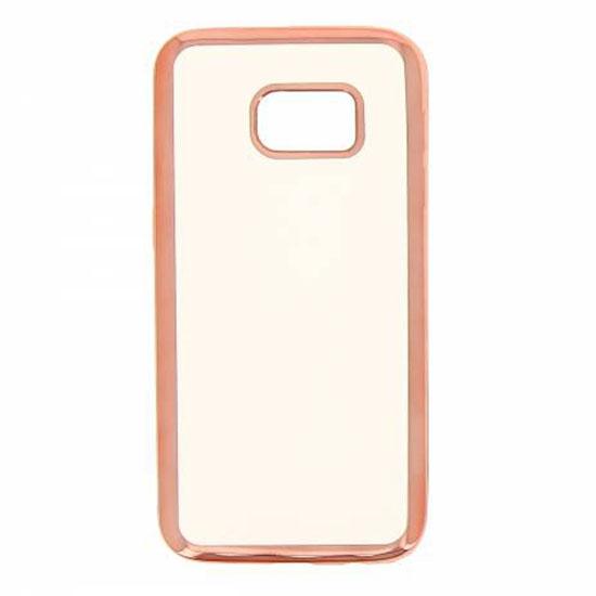 Hallsen Силиконовый чехол для Samsung Galaxy S7 Прозрачный с красными краями