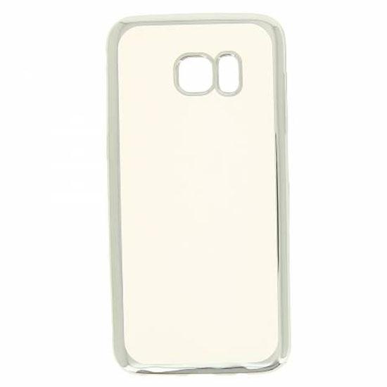 Hallsen Силиконовый чехол для Samsung Galaxy S7 Edge Прозрачный с серебристыми краями