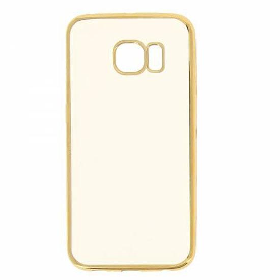 Hallsen Силиконовый чехол для Samsung Galaxy S6 Edge Прозрачный с золотыми краями