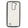 Силиконовый чехол для LG K10 Hallsen Прозрачный с черными краями