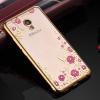 Силиконовый чехол для Meizu M5 Note Hallsen Shine Прозрачный с золотыми краями