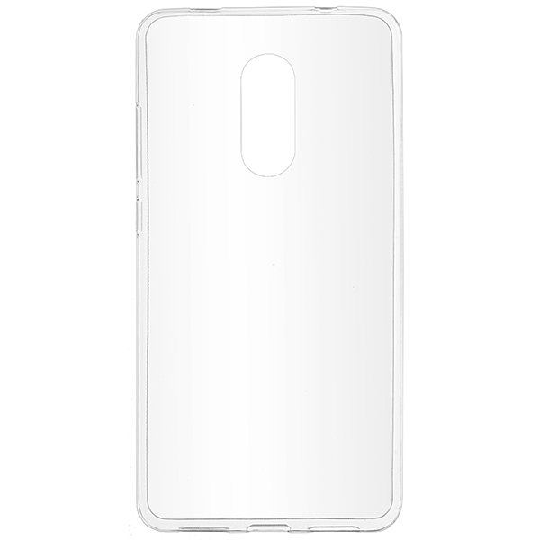 Skinbox Силиконовый чехол для Xiaomi Redmi Note 4X slim silicone 4People Прозрачный