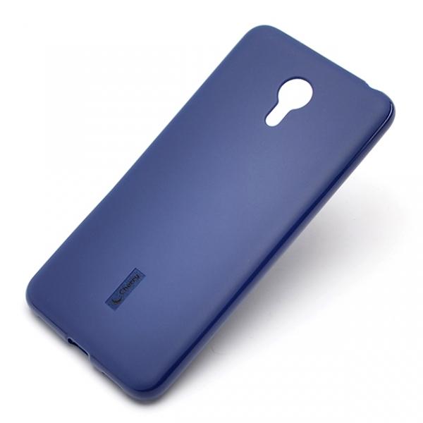 Чехол Cherry, Силиконовый чехол для Meizu M3 Note Синий + Пленка  - купить со скидкой