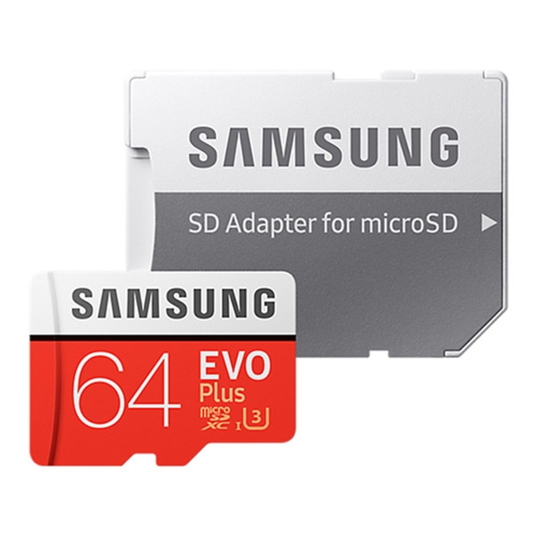 Samsung MB-MC64GARU 64Gb microSDHC Evo Plus + SD адаптер