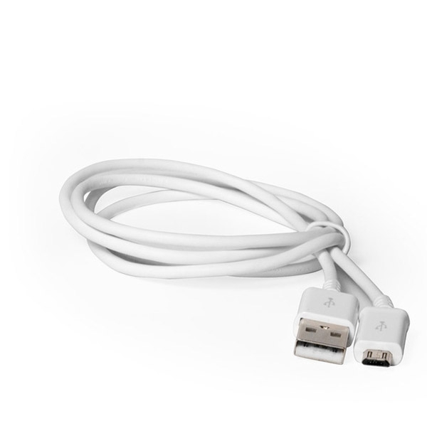Купить со скидкой Кабель USB MicroUSB  2.1A 1.3м Белый