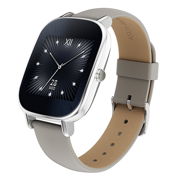 Asus ZenWatch 2 (WI502Q) leather Hyper Charge Silver