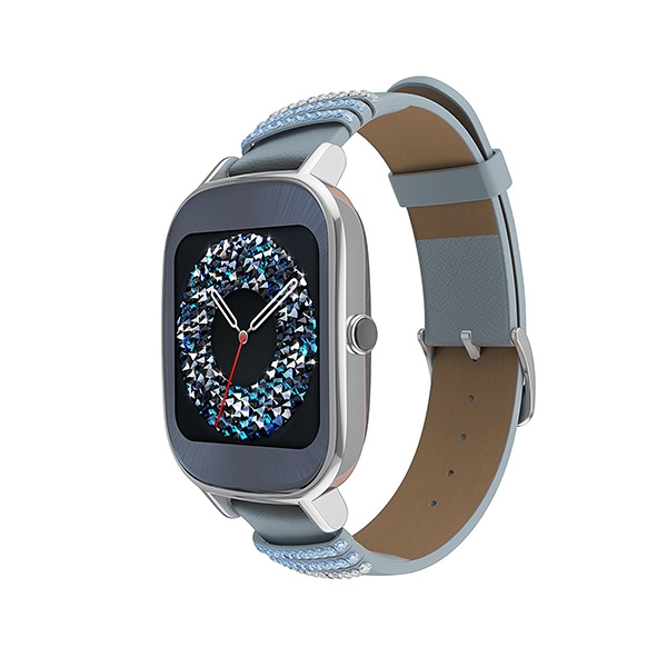 Asus ZenWatch 2 (WI502Q) leather swarovski edition Silver
