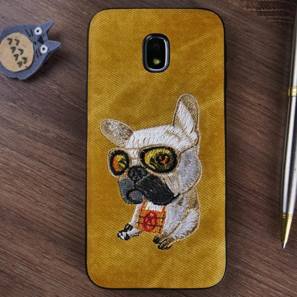 Чехол накладка Чехольчикофф, для Samsung Galaxy J3 (2017) sdd текстура Желтый  - купить со скидкой