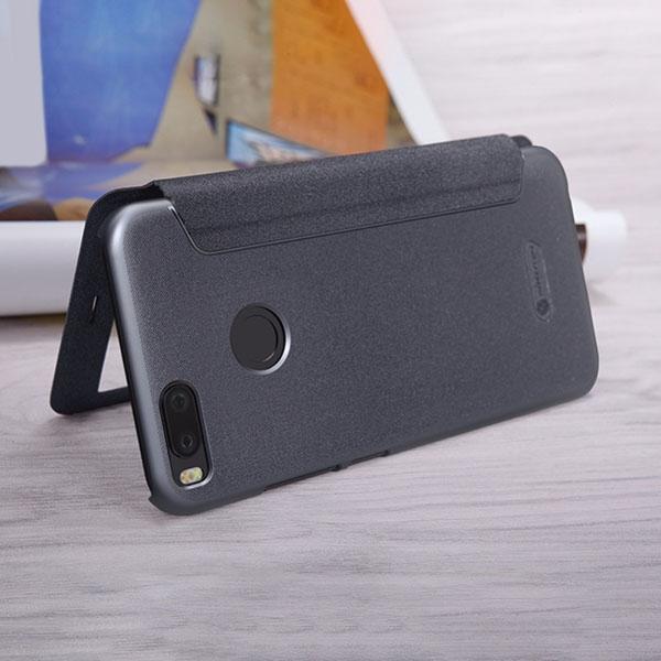 super popular 6b692 2eb49 Чехол книжка для Xiaomi Mi A1 Nillkin Sparkle Leather Case Черный