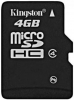 Kingston 4Gb microSDHC Class 4
