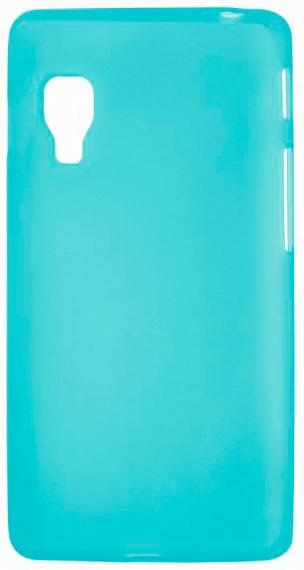 TPU Силиконовый чехол для LG Optimus L5 II Dual E455 голубой матовый