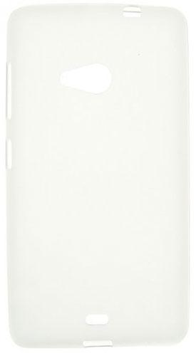 TPU Силиконовый чехол для Microsoft Lumia 535 Dual Sim белый матовый