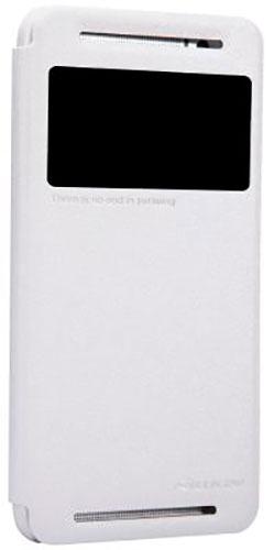 Nillkin для HTC One E8 Sparkle Leather Case белый