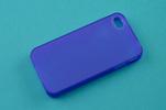 Силиконовый чехол для Apple iPhone 4 и 4S TPU синий матовый