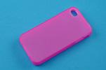 Силиконовый чехол для Apple iPhone 4 и 4S TPU розовый матовый