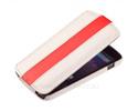 Чехол книжка для Samsung I8190 Galaxy S III mini UpCase бело-красный