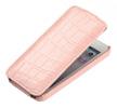 Чехол книжка для HTC One dual sim UpCase розовый крокодил