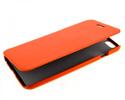 Чехол книжка для Nokia Lumia 630 Dual sim UpCase оранжевый боковой
