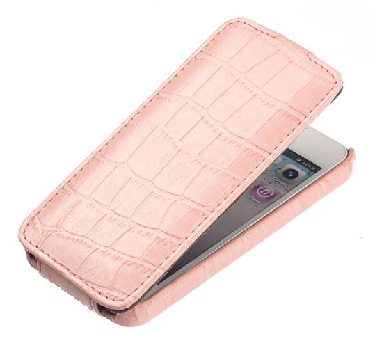 UpCase для HTC One dual sim розовый крокодил