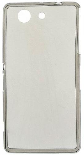TPU Силиконовый чехол для Sony Xperia Z3 Compact D5803 0.5мм серый глянцевый