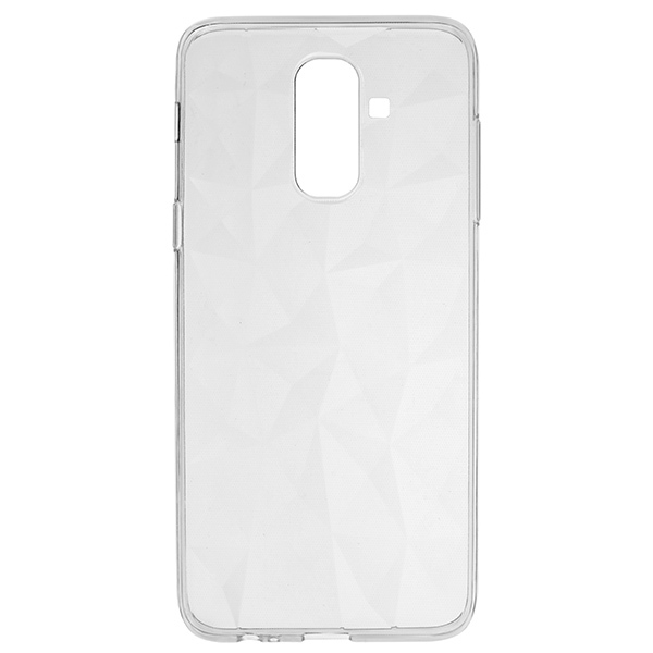 Силиконовый чехол Skinbox для Samsung Galaxy J8 (2018) Diamond Slim Silicone Прозрачный фото