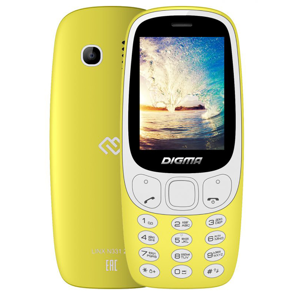 Digma Linx N331 2G Yellow
