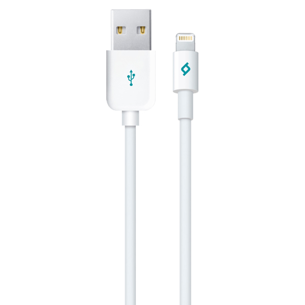 Кабель USB для Apple Lightning Ttec 2DKM01B Mfi 1м Белый