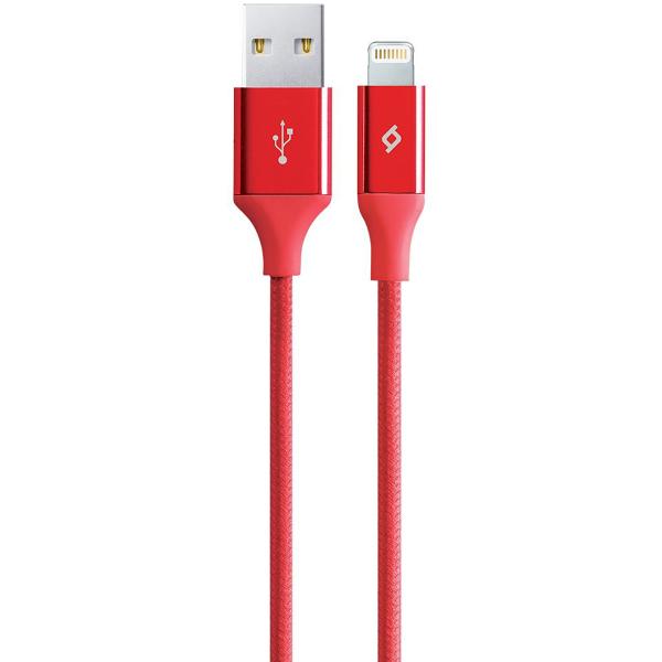 Кабель USB для Lightning Ttec 2DK16K ALum 1м Красный