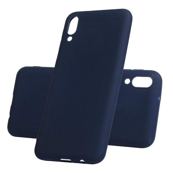 Силиконовый чехол TPU для Samsung Galaxy M10 1мм Синий матовый фото