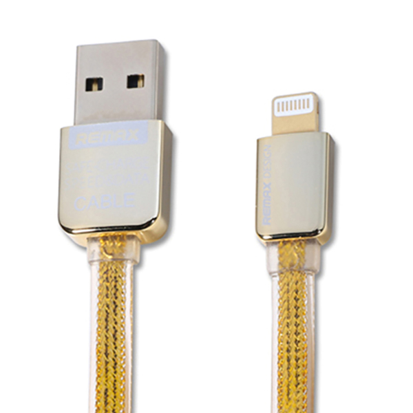 Кабель USB для Apple Lightning Remax Golden 1м Золотой