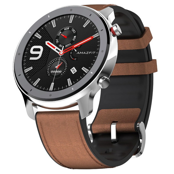 Xiaomi Amazfit Gtr 47mm stainless steel case leather strap