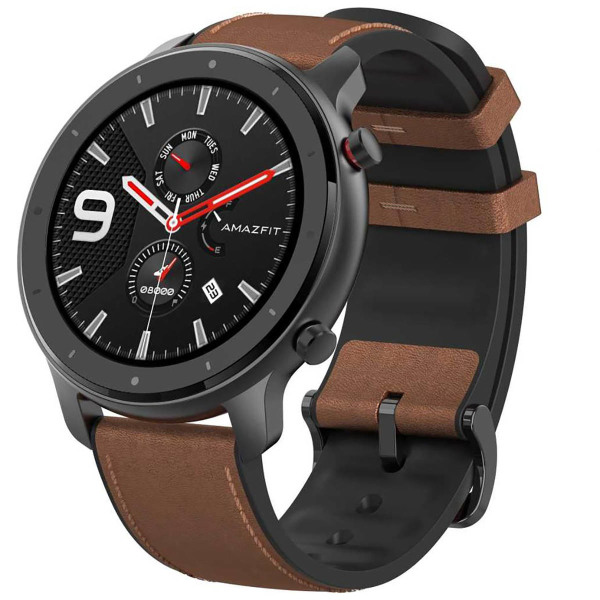 Xiaomi Amazfit Gtr 47mm aluminium case leather strap