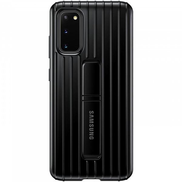 Купить Чехол накладка для Samsung Galaxy S20 Protective Standing EF-RG980CBEGRU Черный дешево, цена 2490 руб. - интернет-магазин Quke